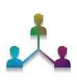 social media marketing sign colorful icon vector image vector image