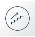 stepladder icon line symbol premium quality vector image vector image