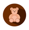 teddy bear toy object for small children to play vector image vector image