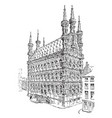 town hall of louvain from the fifteenth century vector image vector image