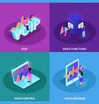 voice control 2x2 design concept vector image vector image