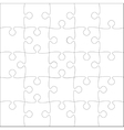 White Puzzles Pieces - JigSaw - 25 vector image vector image