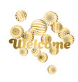 abstract beads pattern in gold xmas color concept vector image