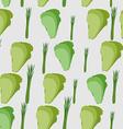 Background of green leaf lettuce seamless pattern vector image