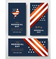 Memorial Day cards vector image