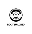 weight dumbbell bodybuilding lettering vector image