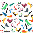 woman shoes background pattern vector image
