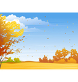Autumn day vector image