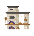 oven for baking bread or pizza vector image