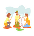young cool people smoking hookah and vaporizer vector image