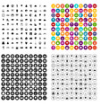 100 view icons set variant vector image