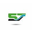 57th Year anniversary design logo vector image