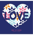 abstract colorful stars love text frame vector image vector image
