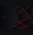 abstract template black geometric polygon on red vector image vector image