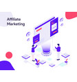 affiliate marketing isometric modern flat design vector image vector image