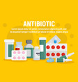 antibiotic concept banner flat style