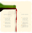 background with red wine vector image