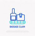 baggage claim thin line icon vector image