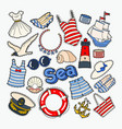 beach summer woman clothes and accessories vector image