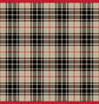 black and gray tartan plaid seamless pattern vector image