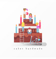 cakes handmade concept vector image