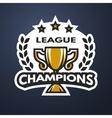 champions league sports logo vector image
