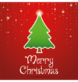 Christmas greeting card design vector image vector image