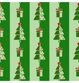 Christmas trees and gifts vector image