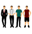 collection men s clothing vector image