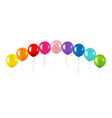colorful balloon garland isolated white background vector image vector image