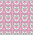 cute cats faces seamless kids pink pattern vector image vector image