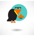Cute raven cartoon waving vector image