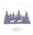 deers in forest vector image vector image