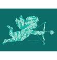 emerald green plants shooting cupid vector image vector image