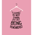 Fashion woman dress with quote vector image vector image
