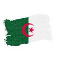 flag of algeria grunge abstract brush stroke vector image vector image