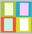 four different paper notes vector image vector image
