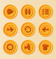 game ui - set buttons for mobile game or app vector image vector image