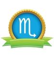 Gold Scorpio logo vector image vector image