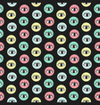 hand drawn eye doodles in colorful circles vector image vector image