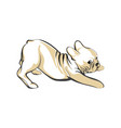 hand-drawn sketch cute pug puppy isolated on white vector image