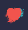 heart from brush strokes vector image vector image