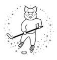 hockey pig symbol 2019 vector image
