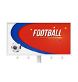 horizontal poster with playing ball on white vector image vector image