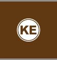 k e letter logo icon design vector image vector image