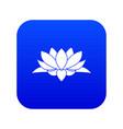 lotus flower icon digital blue vector image vector image