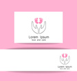 love and care logo template vector image vector image