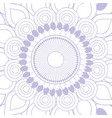 mandala purple background vector image