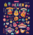 mexican collection vector image vector image