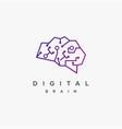 modern digital link brain logo icon template vector image